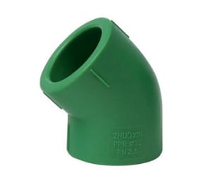 Aquatherm Greenpipe® 6 in. Butt Weld Straight DR 7.4 Fusiolen® PP-R Faser-Composite and Polypropylene 45 Degree Elbow with Foot Extension in Green A112530L