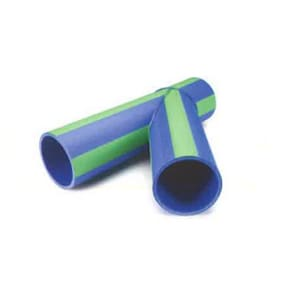 Aquatherm 10 in. Fusion Straight SDR 17.6 Plastic 45 Degree Lateral Pipe Tee Wye in Blue A2403138