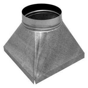 Air Flow Products 16 in x 19 in x 16 in Duct Square-To-Round Coil Cab A7702161916