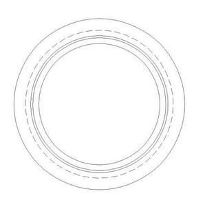Olympic Foundry 22 x 4 in. Cast Iron Flange Up Manhole Ring O112400