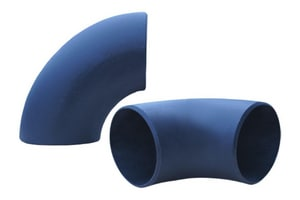 Aquatherm Blue Pipe® 6 in. Socket Straight and Short Radius SDR 11 Polypropylene 90 Degree Elbow in Blue A26121SZ