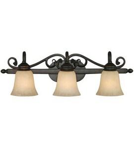 Golden Lighting Belle Meade 100W 3-Light Vanity Light in Rubbed Bronze G40743RBZ