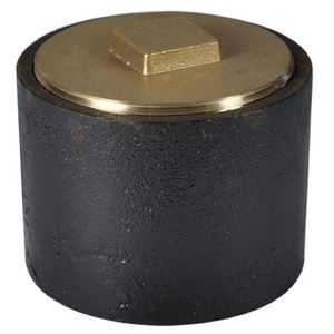 General Engineering 6 x 6 x 6 in. Ductile Iron Clean-Out with Brass Plug G6C0G