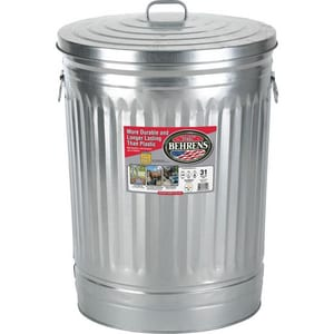 KP Iron Foundry 1 in. Galvanized Trash Bar K1563G60