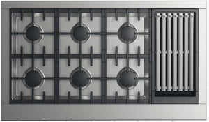 Dynamic Cooking Systems 28 in. 128000 BTU 6-Burner Gas Cooktop in Stainless Steel DCPV2486GLN
