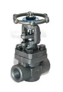 Zy-Tech Global Industries 1-1/2 in. Forged Steel Standard Port Threaded Gate Valve D4123A518