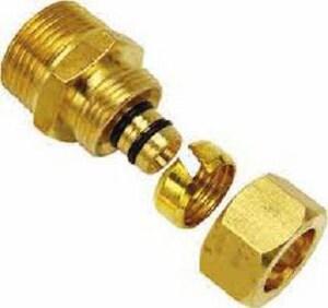 Watts RadiantPEX-AL® 1 in. Compression x MNPT Brass Adapter W81008112