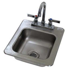 Advance Tabco 3 Hole Stainless Steel Single Bowl Drop In Kitchen Sink With Center Drain Di 1 25 Ferguson