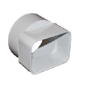 Normandy 2 x 3 x 4 in. Solvent Weld Sewer and Drain Reducing SDR 35 Overall Size PVC Downspout Adapter NV171