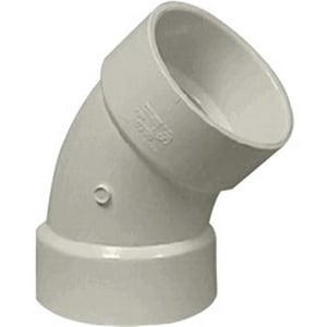 Normandy 3 in. Hub Straight DR 35 Plastic 45 Degree Elbow in White NV503
