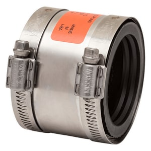 Mission Rubber Band-Seal® 3 x 2 in. Clamp Copper x Cast Iron Plastic and Stainless Steel 301 and 300 Stainless Steel Specialty Coupling MKC32