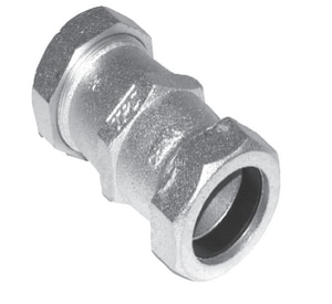 Total Piping Solutions Series 6000 1/2 in. IPS x Compression Galvanized Ductile Iron Coupling T60000840150