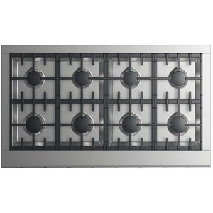 Dynamic Cooking Systems 28 in. 120000 BTU 8-Burner Gas Cooktop in Stainless Steel DCPV2488L