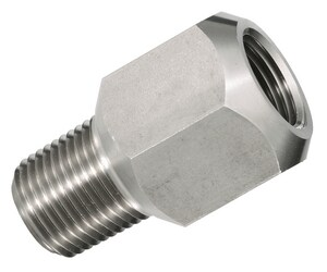 Ashcroft 1/4 in. MNPT x FNPT 303 Stainless Steel Pressure Snubber A021112SE25 at Pollardwater