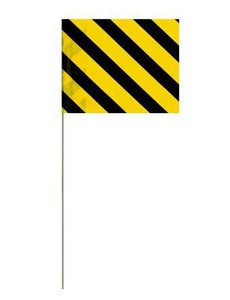 Blackburn Marker Wire Flag in Black and Yellow BP451WYB