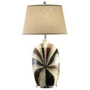 Crestview Collection 100W 1-Light Ceramic Table Lamp CCVAP1307