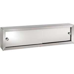 Rangaire Commodore 36-1/4 in. Stainless Steel and Polished Mirror Edge Medicine Cabinet Overpacked in Basic White RV36X