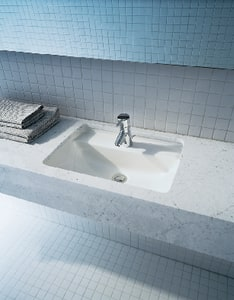 Duravit Starck 3 Wall Mount Lavatory Sink in White D0309700000