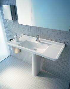 Duravit Starck 3 Wall Mount Bathroom Sink in White D0304100000