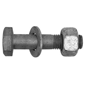 3/4 x 3-1/4 in. Grade B Carbon Steel Bolt with Heavy Hex Nut and Washer T567563134X314