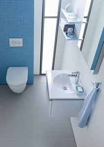 Duravit Darling New 3-Hole Wall Mount Circular Bathroom Lavatory Sink in White Alpin D0499630030