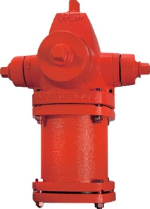 Waterous Pacer® Red 7 ft. 6 in. Mechanical Joint Assembled Fire Hydrant W7276A2S