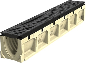 Aco Polymer Products 39-37/100 x 4 x 9-21/25 in. Grooved Power Drain Neutral Channel A67047