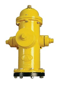 American Flow Control-Acipco 4 ft. x 6 in. VO Open Left Fire Hydrant (Less Accessories) in Yellow AFCB84BULAOLPLWC