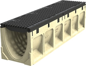 Aco Polymer Products 19-69/100 x 8 x 11-81/100 in. Grooved Neutral Channel A68046