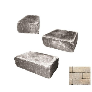 Anchor Block Company Weston 4 x 16 x 8 in. Concrete Wall Paver in Cotswold Mist 3-Piece A16254070