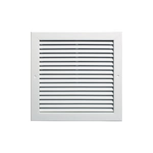 Grille Tech 36 x 8 in. Deflection Return Air Grille in Sky White GRA36X