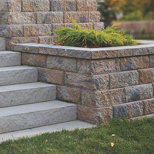 Anchor Block Company Highland Stone® 9 x 12 x 6 in. Concrete Wall Paver in Mixed Ironstone A16252285