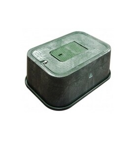 Carson Industries Oldcastle® 14 x 16 x 12 in. Water Meter Box Body with 2-Mousehole in Black C14162500