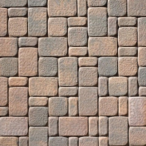 Anchor Block Company Mega-Kingston 2-3/8 x 10-5/8 x 7-1/16 in. Concrete Paver in Fieldstone 3-Piece A10154927