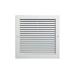 Grille Tech 12 x 6 in. Deflection Return Air Grille in Sky White GRA12U