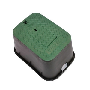 Carson Industries 12 in. Standard Rectangular Plastic Meter Box Body Only in Green C14192002
