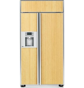 General Electric Appliances Profile™ 42 in. 25.2 cf Built-In Side-By-Side Custom Panel Refrigerator in Stainless Steel GPSB42YGXSV