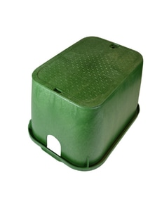 Carson Industries Super Jumbo 18 x 30 x 17 in. HDPE Sewer Box with Solid Lid in Green C17301145
