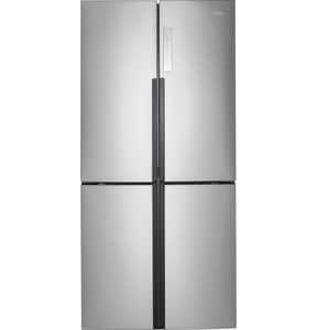 16.4 cf Quad Door Refrigerator in Stainless Steel GHRQ16N3BGS