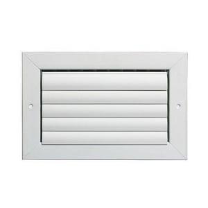Grille Tech 6 x 6 in. Ceiling & Sidewall Register in Sky White 1-way Aluminum GCL1MU