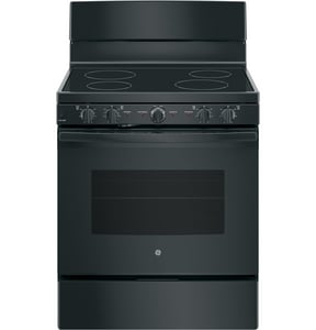 GE Appliances 29 x 47 x 30 in. Radiant and Smoothtop 5 cf Freestanding Electric Cooktop Range in Black GJB480DMBB