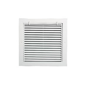 Grille Tech 18 x 18 in. Return Air Filter Grille in Sky White GRAFFS18