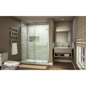 DreamLine Flex 48 in. Frameless Pivot Shower Door with Clear Tempered Glass in Polished Chrome DSHDR2248720001