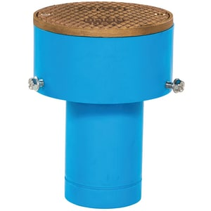 Orion Fittings 4 in. Plain End Straight Polypropylene Round Floor Clean-Out with Nickel Bronze Cover OMJBLFCORD4