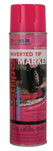 Seymour of Sycamore 20 oz. Upside Down Marking Spray Paint  in Fluorescent Pink SEY20979