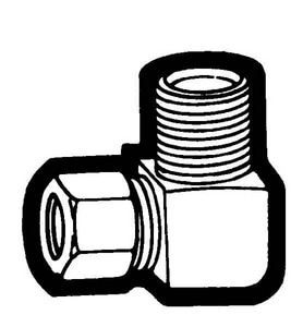 Holyoke Fittings 3/8 in. OD Tube x MPT Elbow Nut Adapter H6966