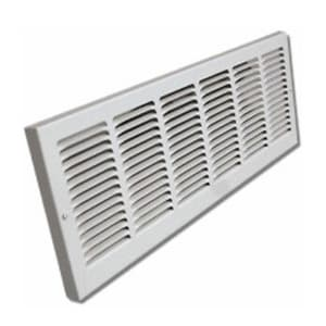 Shoemaker Manufacturing 14 in. Baseboard Return Air Grill in White S1150X