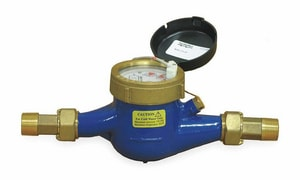 Pulsafeeder 1-1/2 in. 1.5 - 100 gpm 10 gpc NPT Brass Contacting Water Meter PMTR407G