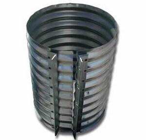 8 in. 16 ga Alloy Steel Coupling for Corrugated Pipe CC816GA