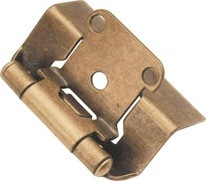Richelieu America Semi-Concealed Cabinet Hinge in Antique Brass R100615